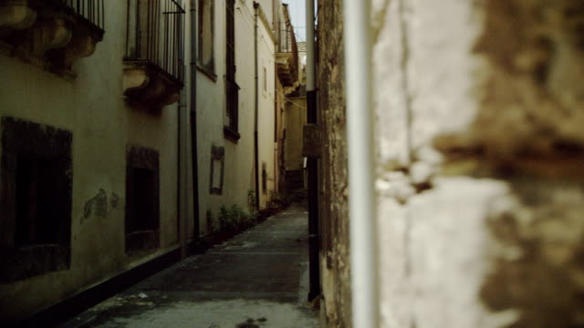 walk trough side streets of an italian village - absence stock videos & royalty-free footage