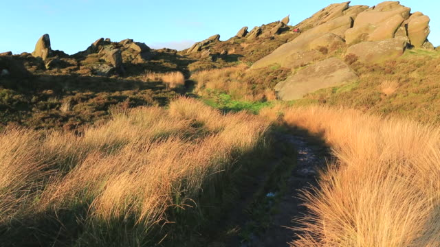 walker on the ramshaw rocks, - the roaches stock videos and b-roll footage