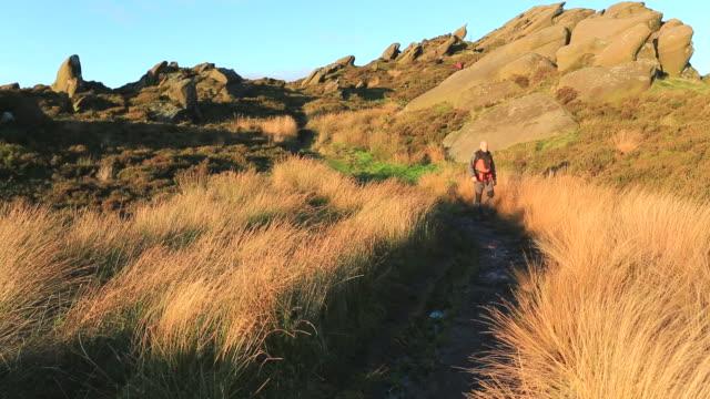 walker on the ramshaw rocks, - 50 54 years stock videos & royalty-free footage