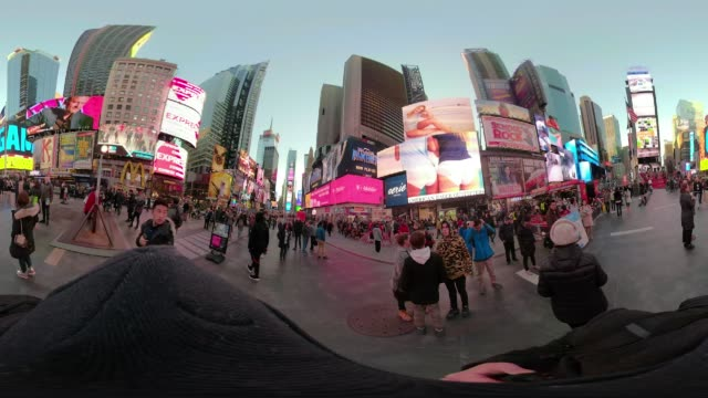 POV walking 360 VR Times Square New York City