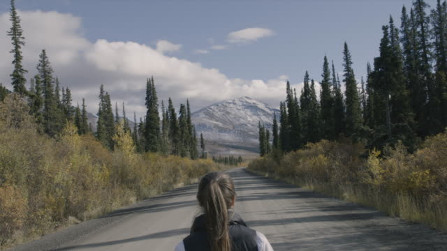 stockvideo's en b-roll-footage met walking along a rural highway through wilderness - ontsnappen