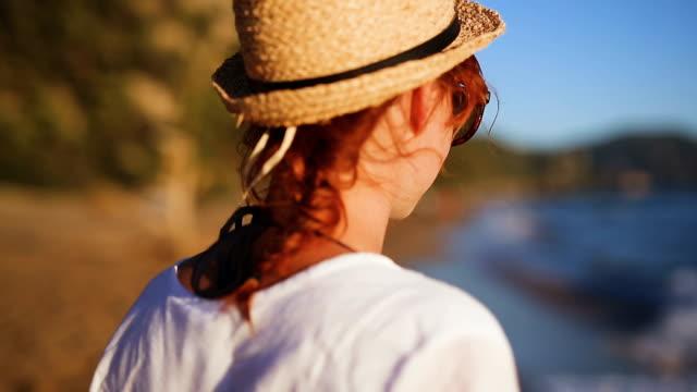 walking among beautiful beach in corfu island - kauai stock videos and b-roll footage