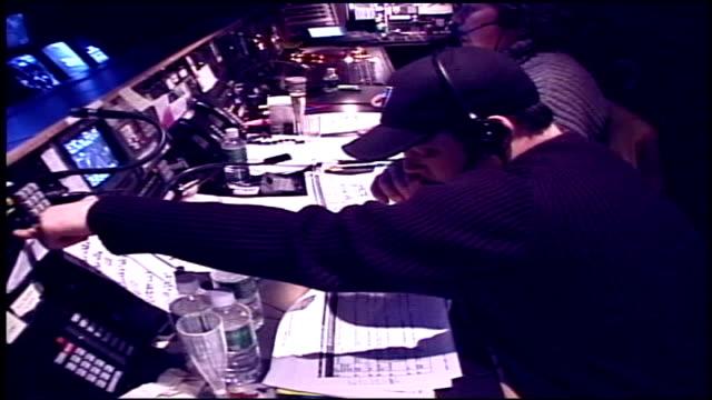 stockvideo's en b-roll-footage met of walking and being inside tv control room - achter de schermen ruw materiaal