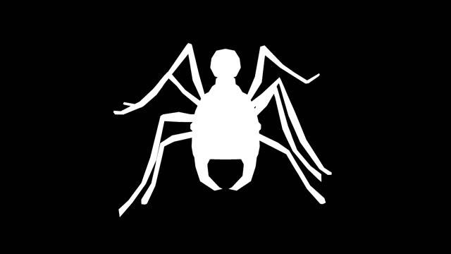 黒い背景に歩くアリのシルエット。動物、野生動物、ゲーム、学校に戻る、3dアニメーション、短いビデオ、フィルム、漫画、有機、クロマキー、キャラクターアニメーション、デザイン要� - 特殊効果点の映像素材/bロール