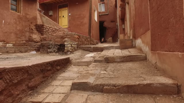 Walking around Abyaneh village in Iran