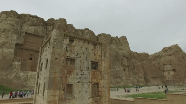 walking around naqsh-e rustam, iran - iran stock videos and b-roll footage