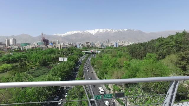 Walking around Tabiat Bridge in Tehran, Iran