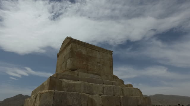 Walking around Tomb of Cyrus, Iran