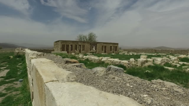 walking around tomb of cyrus, iran - tomb stock videos & royalty-free footage