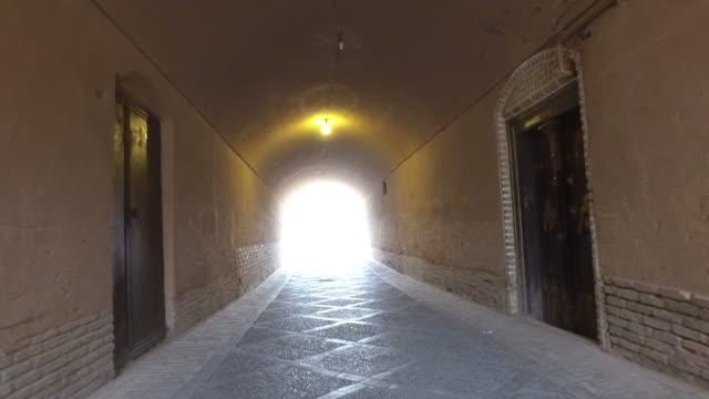 walking around yazd old city, iran - yazd province stock videos & royalty-free footage