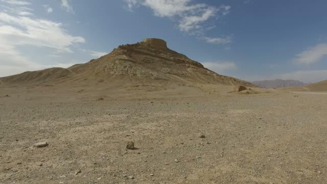Walking around Yazd Tower of Silence, Iran