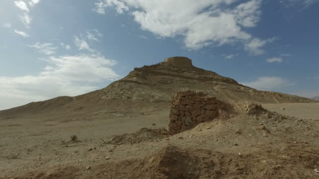 walking around yazd tower of silence, iran - iran stock videos and b-roll footage
