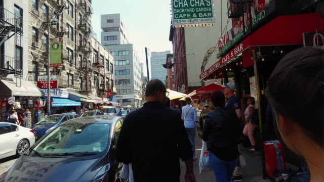 walking at chinatown in new york - chinatown stock videos & royalty-free footage
