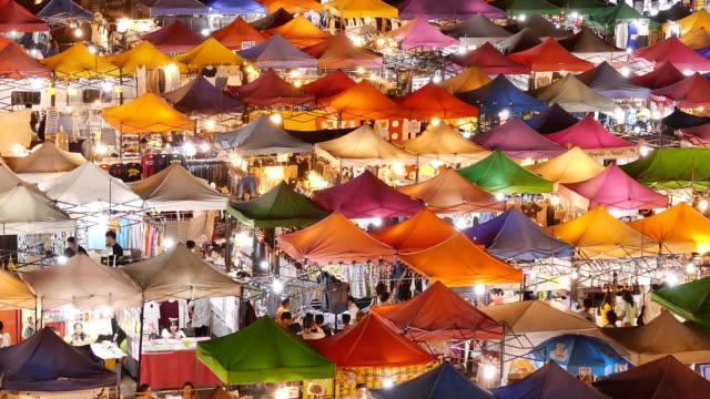 walking at night market - night market stock videos & royalty-free footage