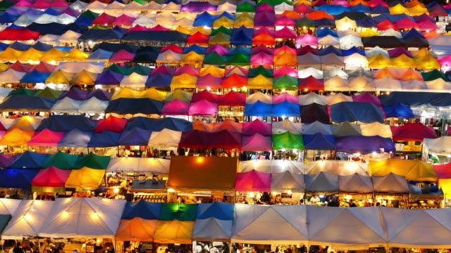Fuß bei Nacht Markt