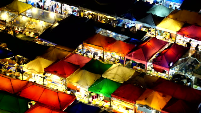 ws:walking at night market - admiration stock videos and b-roll footage