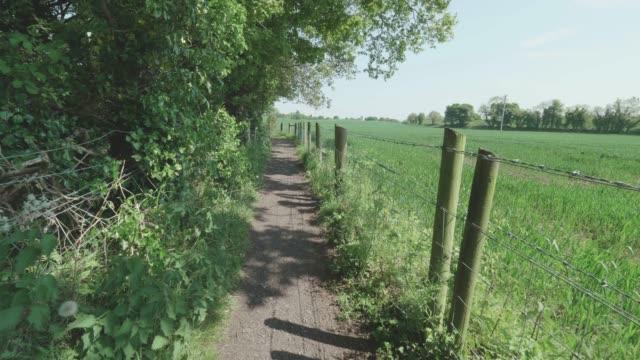 marche au chemin de campagne de printemps, Irlande du Nord