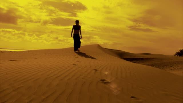 Walking at the desert