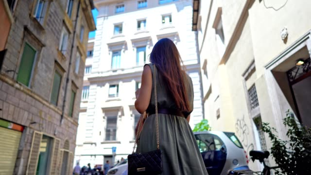 walking at the streets of rome - beautiful people stock videos & royalty-free footage
