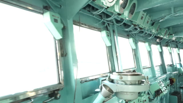walking belong porthole that is in inside of ship's bridge of ice breaker - cruise stock videos and b-roll footage