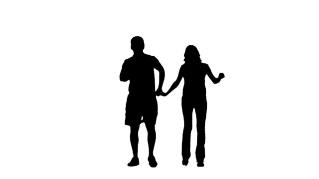 walking couple - plain background stock videos & royalty-free footage