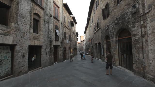pov ws walking down old town street / tuscany, italy - narrow stock videos and b-roll footage