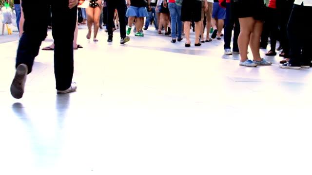 walking feet on street - human limb stock videos & royalty-free footage