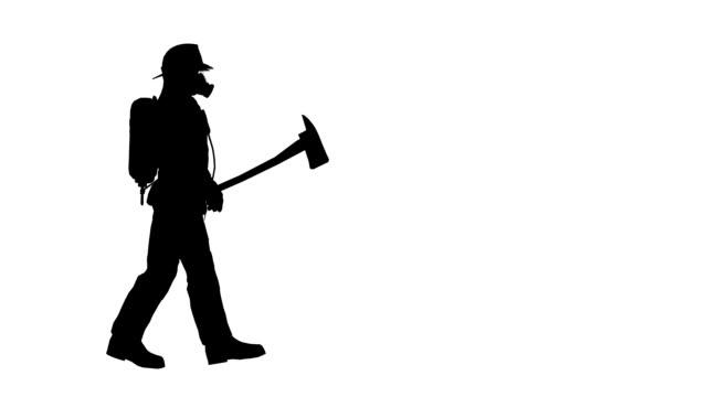 stockvideo's en b-roll-footage met walking  fireman - brandweerman