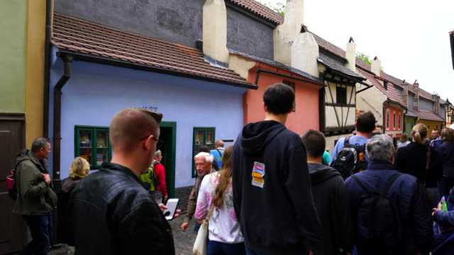walking golden lane - hradcany castle stock videos and b-roll footage