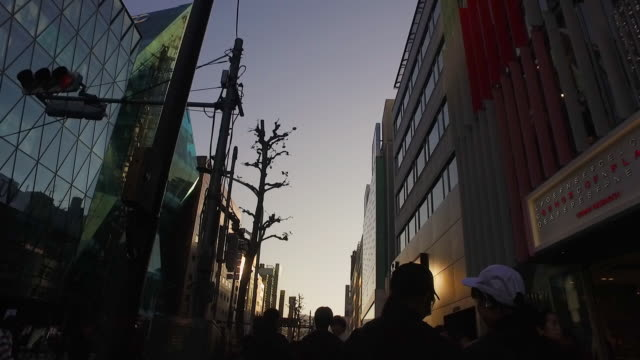 pov,walking harajuku to shibuya in tokyo. - walking point of view stock videos & royalty-free footage