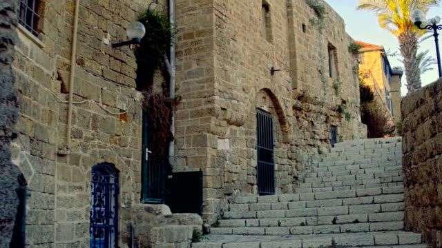 walking in ancient eastern town - jaffa stock videos & royalty-free footage