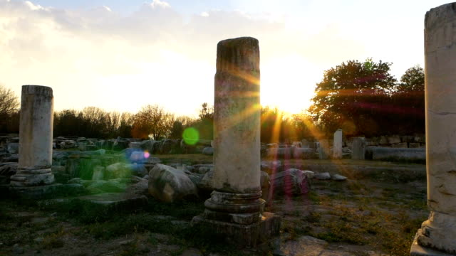 walking in aphrodisias antique city - greek mythology stock videos and b-roll footage
