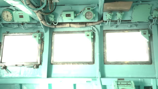 walking in inside of ship's bridge of ice breaker - cruise stock videos and b-roll footage