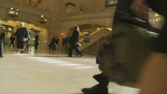 POV Walking in Main Concourse at Grand Central Station / New York City, New York, USA