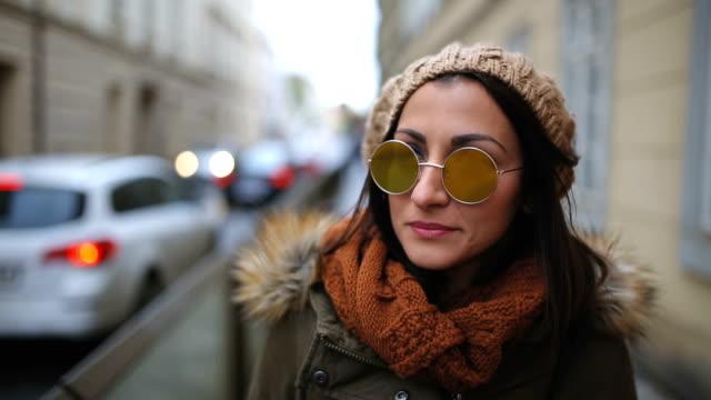 walking in prague - sunglasses stock videos & royalty-free footage