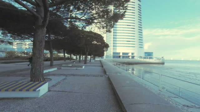 walking in the park of nations - lisbon stock videos and b-roll footage
