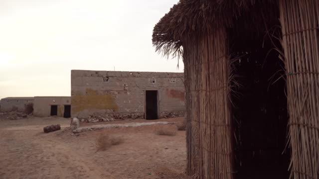 POV, walking in village building in Ras al-Khaimah