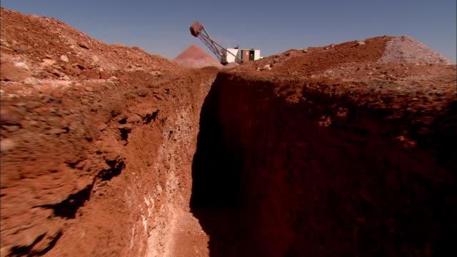 pov walking into mine shaft and going underground, anna creek, south australia, australia - mine shaft stock videos & royalty-free footage