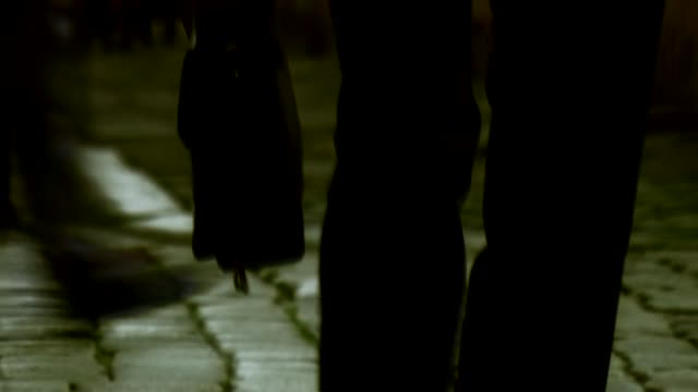 walking man - cobblestone stock videos & royalty-free footage