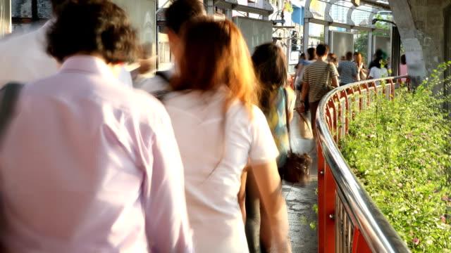 Walking of crowd