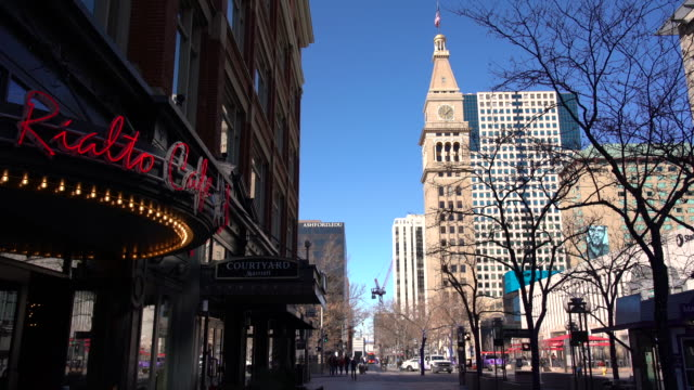 ws pov walking on 16th st mall / denver, co, usa - denver stock videos & royalty-free footage