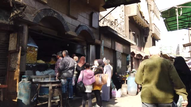 walking on a food market in cairo, egypt - tradition stock videos & royalty-free footage