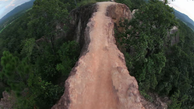 walking on an edge of canyon