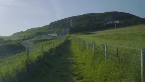 walking on autumn countryside morning ,northern ireland - northern ireland stock videos & royalty-free footage