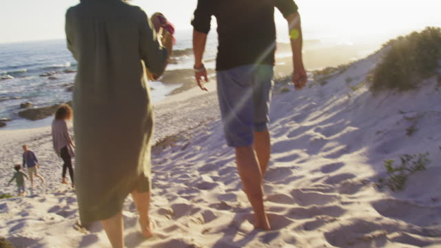 walking on beach - 60 69 years stock videos & royalty-free footage