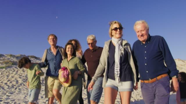 vídeos y material grabado en eventos de stock de walking on beach - 4 5 años