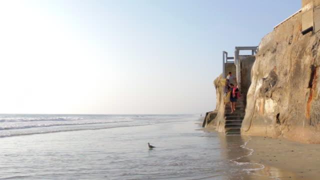 walking on beach - steps stock videos & royalty-free footage