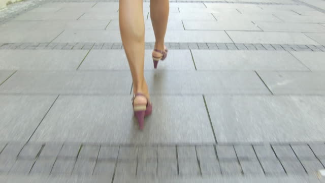 walking on city street - human foot stock videos and b-roll footage