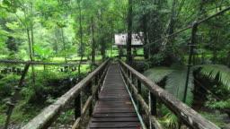 Walking on Hanging Bridge