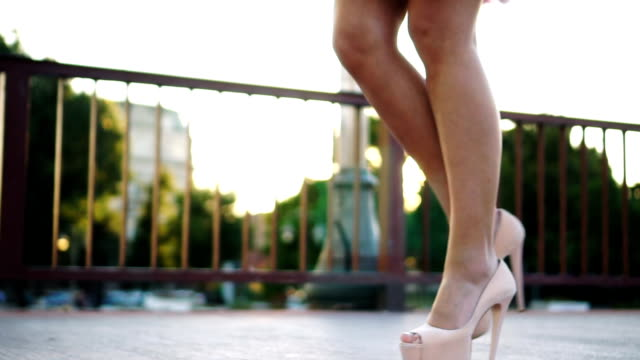 walking on high heels - human foot stock videos and b-roll footage